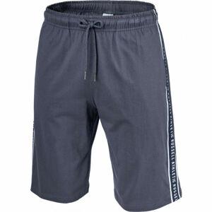 Russell Athletic STRIPED PRINTED SHORTS tmavě šedá XL - Pánské šortky