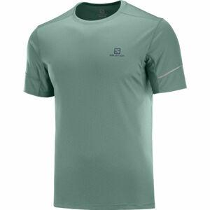 Salomon AGILE SS TEE M tmavě zelená S - Pánské triko