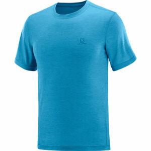 Salomon EXPLORE SS TEE M modrá 2XL - Pánské triko