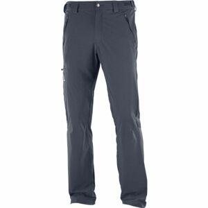 Salomon WAYFARER PANT M tmavě šedá 46 - Pánské outdorové kalhoty