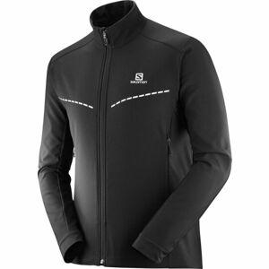 Salomon AGILE SOFTSHELL JKT M černá XXL - Pánská softshell bunda
