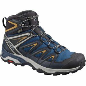 Salomon X ULTRA 3 MID GTX tmavě modrá 10.5 - Pánská hikingová obuv