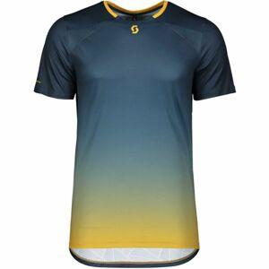 Scott TRAIL TECH S/SL modrá XL - Pánské triko