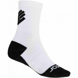 Sensor RACE MERINO BLK bílá 3-5 - Ponožky