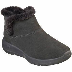 Skechers ON THE GO JOY BUMDLE UP tmavě šedá 39 - Dámská zimní obuv