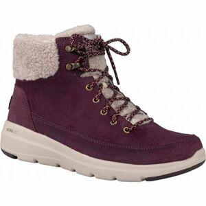 Skechers GLACIAL ULTRA vínová 39 - Dámské zimní boty