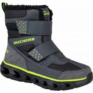 Skechers HYPNO FLASH 2.0 tmavě šedá 32 - Chlapecká zimní obuv