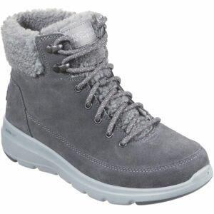 Skechers GLACIAL ULTRA tmavě šedá 37 - Dámské zimní boty