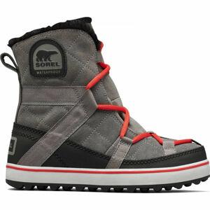 Sorel GLACY EXPLORER SHORTIE šedá 8 - Dámská zimní obuv