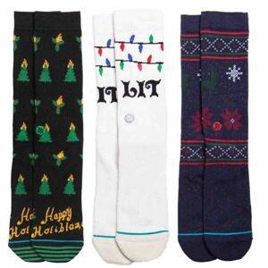 Stance TIS THE SEASON 3 PACK bílá L - Pánské ponožky