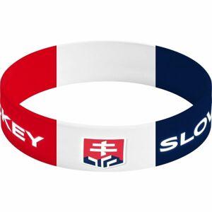 Střída NARAMOK SIROKY SLOVAKIA HOCKEY červená NS - Silikonový náramek