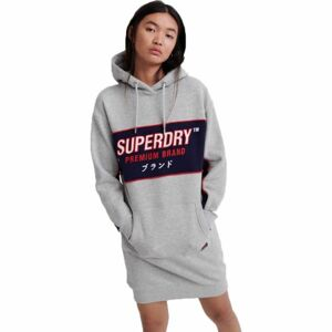 Superdry GRAPHIC PANEL SWEAT DRESS šedá 10 - Dámské šaty