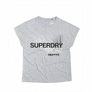 Superdry CORE SPLIT BACK TEE šedá 12 - Dámské tričko