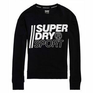 Superdry CORE SPORT CREW černá 12 - Dámská mikina