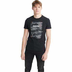 Superdry CHROMATIC TEE černá S - Pánské tričko
