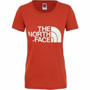The North Face S/S EASY TEE červená XS - Dámské tričko