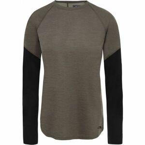 The North Face PRESTA LS W šedá M - Dámské tričko s dlouhým rukávem