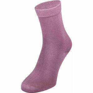 Tommy Hilfiger WOMEN SOCK 1P HEEL STRIPE fialová 35-38 - Dámské ponožky