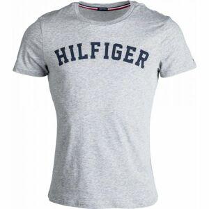 Tommy Hilfiger SS TEE LOGO tmavě modrá L - Pánské tričko