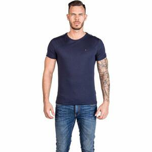 Tommy Hilfiger RN TEE SS tmavě modrá S - Pánské tričko