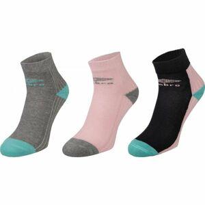 Umbro SPORT SOCKS 3P růžová 35 - 38 - Dětské ponožky