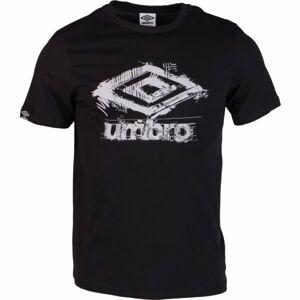 Umbro SCUFF LOGO GRAPHIC TEE černá L - Pánské triko