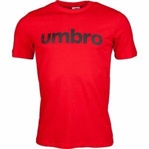 Umbro LINEAR LOGO GRAPHIC TEE červená XL - Pánské triko