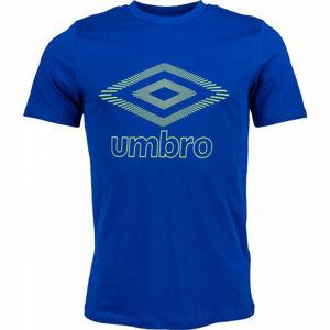 Umbro FW CLASSICO GRAPHIC TEE modrá L - Pánské triko
