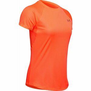 Under Armour SPEED STRIDE SHORT SLEEVE oranžová S - Dámské tričko