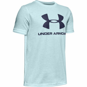 Under Armour SPORTSTYLE LOGO SS modrá L - Chlapecké triko
