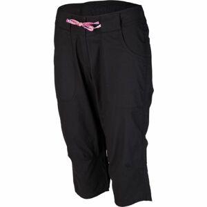 Willard LENTIL černá 40 - Dámské plátěné 3/4 kalhoty