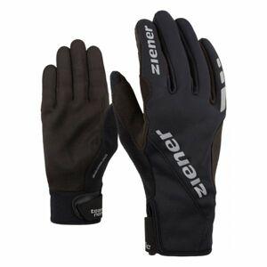 Ziener UMANI GWS PR BLACK černá 10.5 - Běžecké rukavice