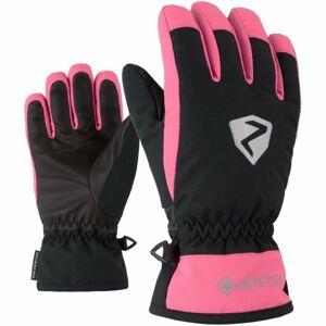 Ziener LARINO GTX JR růžová 6,5 - Dětské rukavice